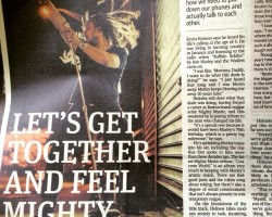 Mighty Mystic featured in the center fold of The Metro Boston