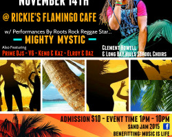 "Mighty Mystic to Headline ""SAND JAM"" Fest in Turks & Caicos Nov 14th"