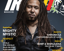 Mighty Mystic graces the cover of Irie Magazine 420 issue